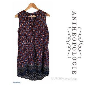 ANTHROPOLOGIE Alya Tunic Shirt Dress Sz M $158 EUC